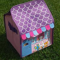 Тканевая шкатулка-органайзер для детских игрушек