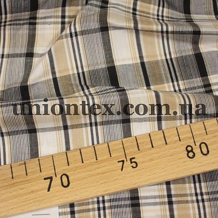 Рубашечная ткань клетка (минимальный отрез 10м), фото 2