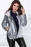 Зимняя бархатная куртка