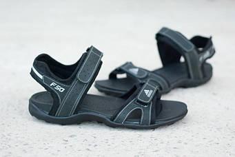 Мужские кожаные сандалии Adidas босоножки сандали