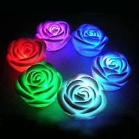 Свеча в форме розы (светящаяся)