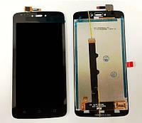 Дисплей Motorola Moto C XT1750 модуль в сборе с тачскрином черный