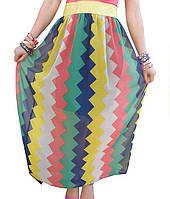 Разноцветная шифоновая юбка