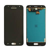 Дисплейный модуль для телефона Samsung J330F Galaxy J3 (2017) в сборе с тачскрином, черный