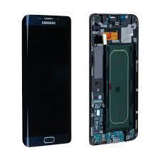 Дисплейний модуль для телефону Samsung G928 Galaxy S6 EDGE Plus з рамкою в зборі з тачскріном синій