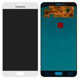 Дисплейний модуль для телефону Samsung C7000 Galaxy C7 в зборі з тачскріном, білий
