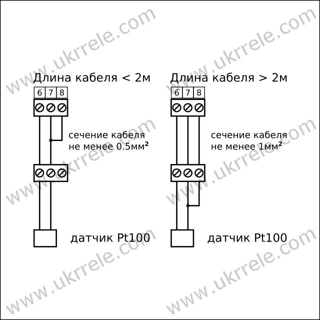 Схема подключения терморезистора Pt100