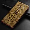 """MEIZU PRO 5 оригинальный кожаный чехол книжка из натуральной кожи магнитный противоударный """"CROCO HEAD"""", фото 9"""