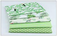 Ткань для пэчворка, скрапбукинга, рукоделия Тропики (5 отрезовов  40*50 см), фото 1
