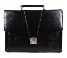 Кожаный мужской портфель 3483 черный
