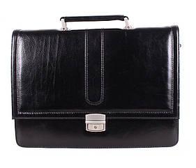 Кожаный мужской портфель 3502 черный