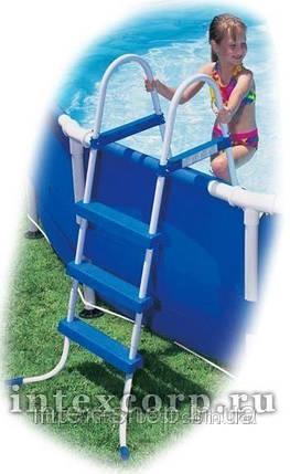 Лестница для надувных и каркасных бассейнов высотой 91см Intex 58972  , фото 2
