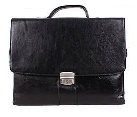 Кожаный мужской портфель 3537 черный
