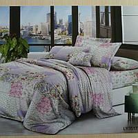 Ткань для пошива постельного белья бархатный сатин поликоттон LUX сублимация 025