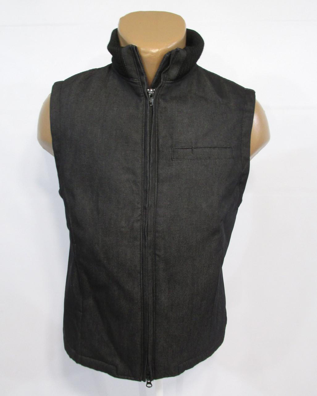 Жилет джинсовый утепленный N38 (S, 10), т.серый, Как Новый!