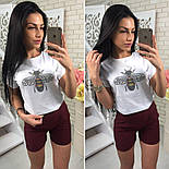 Женский костюм-тройка: футболка, юбка и шорты (3 цвета), фото 3