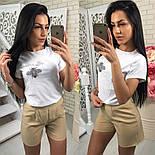 Женский костюм-тройка: футболка, юбка и шорты (3 цвета), фото 5