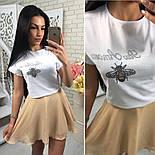 Женский костюм-тройка: футболка, юбка и шорты (3 цвета), фото 6