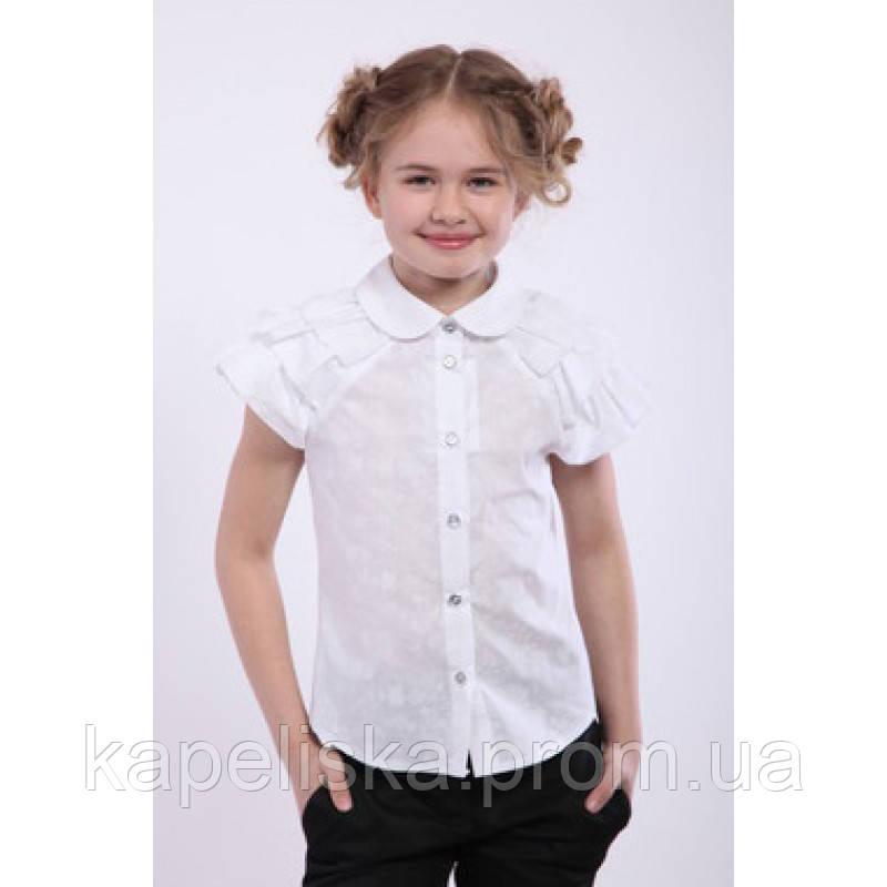 Блуза школьная, летняя, нарядная белая Дана, Da-na блузочка для дівчин