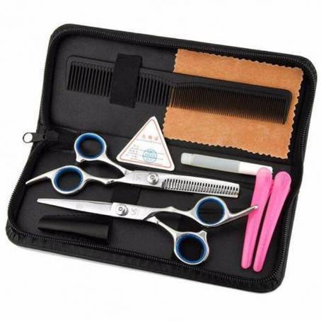 Набор парикмахерских ножниц 6 дюймов (прямые и филировочные) комплект, фото 2
