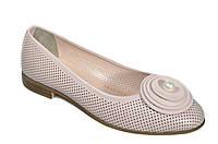 Летние женские кожаные туфли Aquamarin
