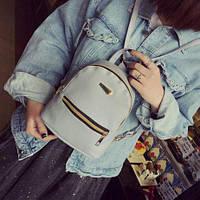 Рюкзак мини женский эко кожа кожзам девушек девочек черный городской