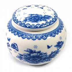Баночка для чая керамическая (450 мл.)(10х10х9 см) ( 30837)