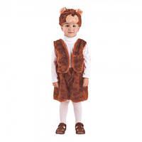 Маскарадный костюм меховой Медведь рыжий размер S