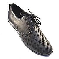 Мужская обувь больших размеров летние кроссовки кожаные в сеточку Rosso Avangard BS ANBlack черные