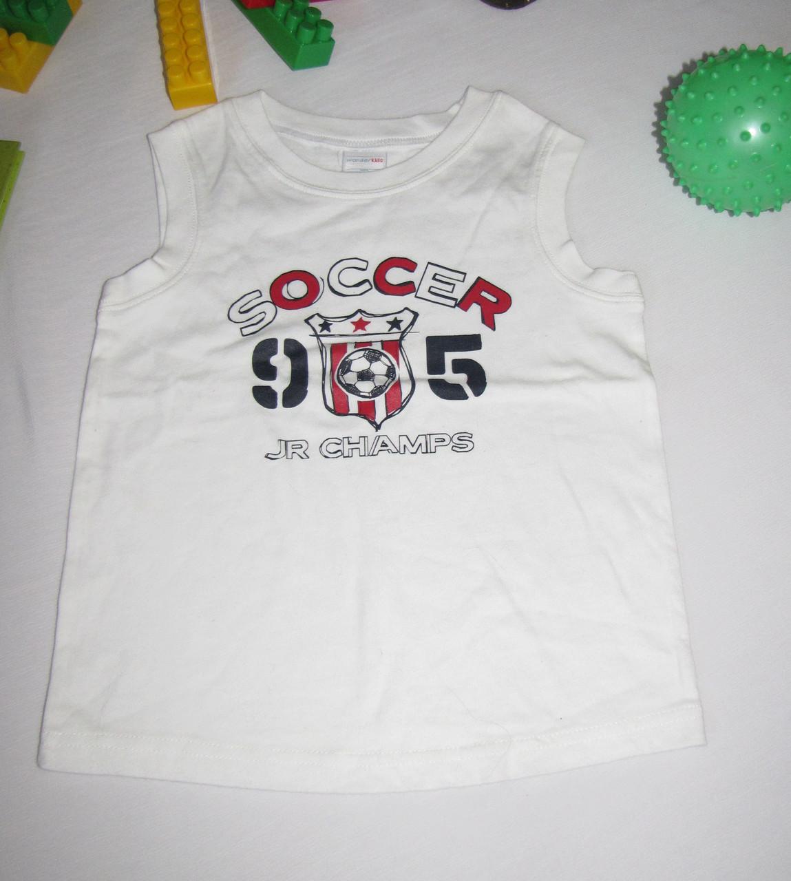 Спортивная майка Wonder Kids Soccer рост 104 см белая 07091
