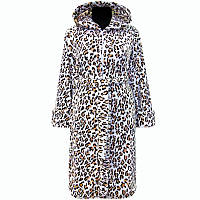 Халат махровый теплый зимний леопард!
