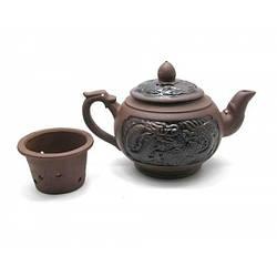"""Чайник глина с ситом """"Дракон"""" (500 мл(13х21х11,5 см) ( 22504)"""