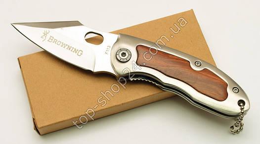 Нож Складной, карманный с деревянной рукоятью