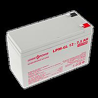 Аккумулятор гелевый LogicPower 12V, 7.5 Ah (7500 mAh)