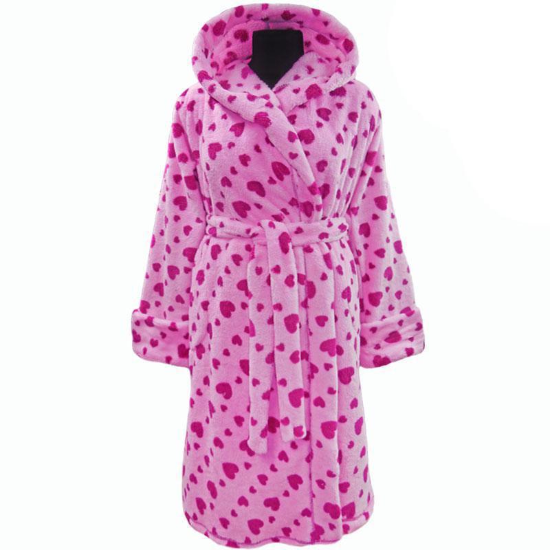 Подростковый теплый халат на запах
