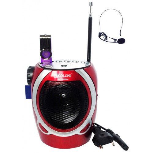 Проигрыватель GOLON RX 678 с MP3 и FM радио ( портативная колонка )