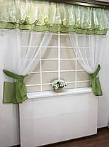 """Кухонные шторы """"Мармарис"""" Зеленая, фото 3"""