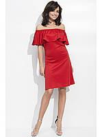 Женское летнее платье  волан