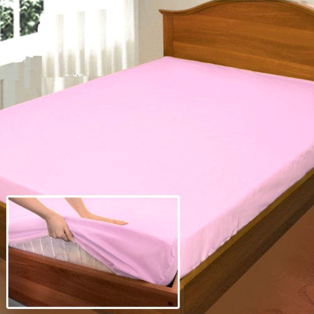 """Простынь на резинке """"Роза"""", поплин (160*200*34см) Комфорт-текстиль"""