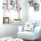Декоративная ткань прованс со старыми фотоаппаратами и фотографиями серого цвета, фото 2