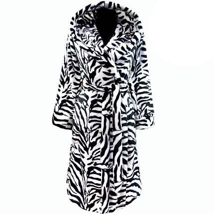 Подростковый теплый зимний махровый халат зебра на запах  продажа ... b68fae5e5ba73
