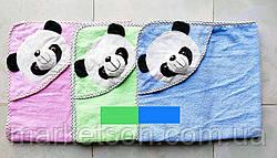 Махровое полотенце с уголком Мишка для купания, фото 2