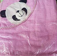 Махровое полотенце с уголком Мишка для купания