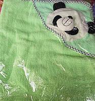 Махровое полотенце с уголком для купания 85х85