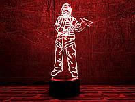 """3D светильник """"Пожарный 3"""" 3DTOYSLAMP, фото 1"""