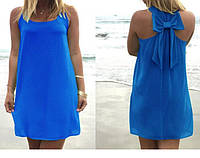 Женское летнее платье  с бантом пт27