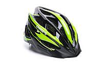 Шлем OnRide Mount глянцевый черно-зеленый M (55-58 см)