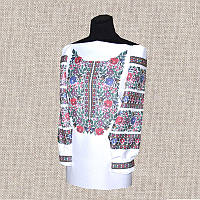 Женская сорочка бисером (нитками) ВМ-СЖ-225. Заготовка под вышивку.