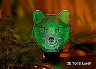 "3D ночник ""Медведь"" 3DTOYSLAMP, фото 1"