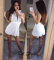 Женское модное платье с открытой спиной